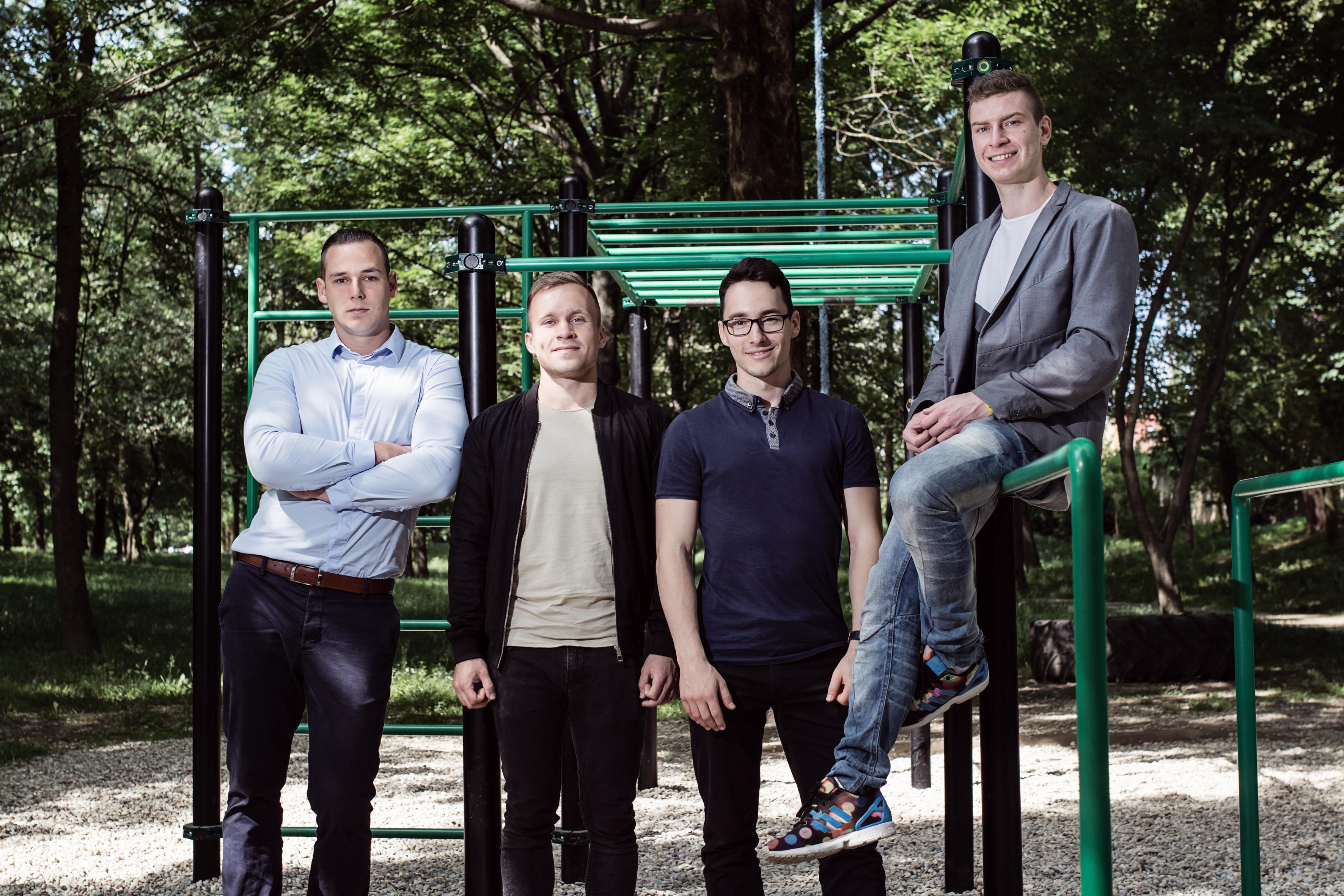 OCTAGO zakladatelia: Timo, Maťo, Dušky, Marko