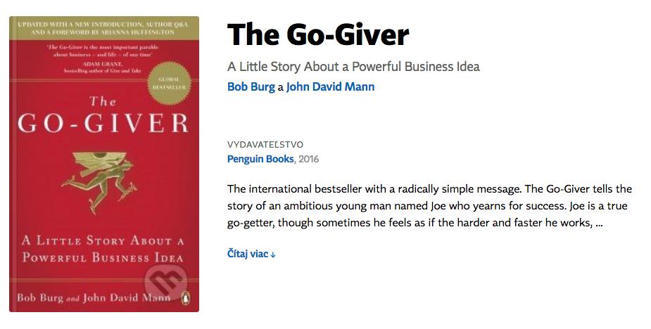 Go-giver kniha