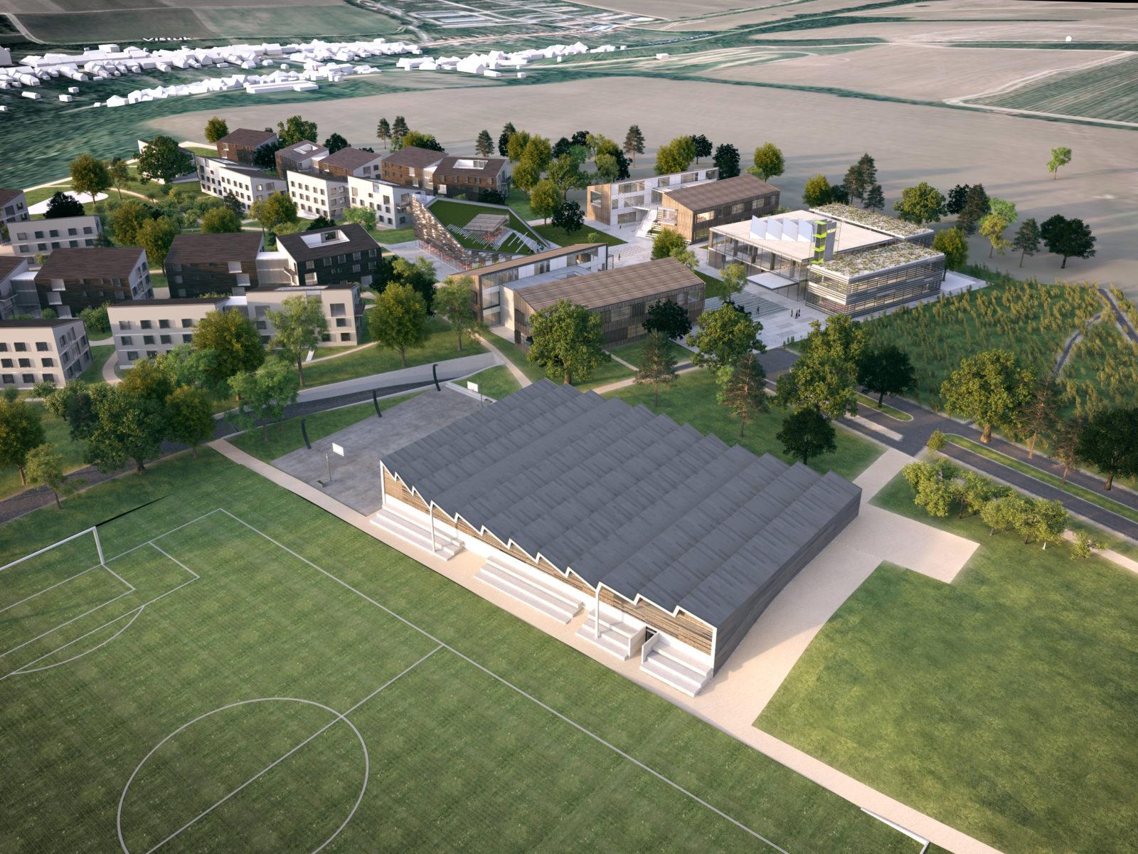 Letecký pohľad na kampus