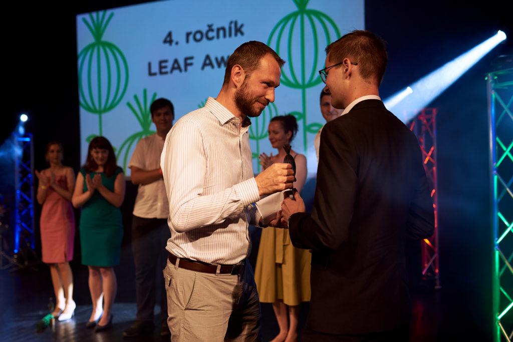 Peter Irikovsky na odovzdavani cien LEAF Award